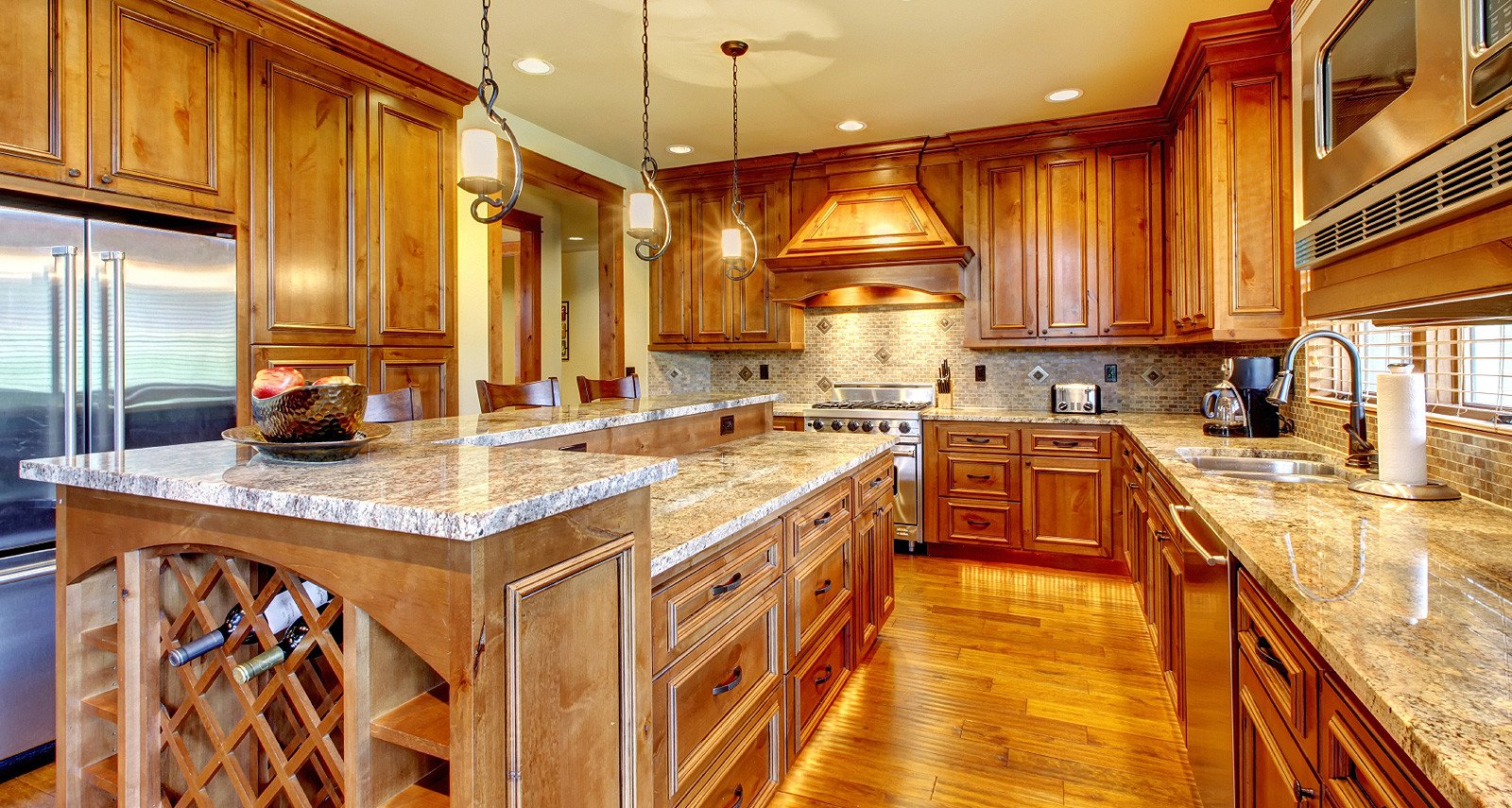 Wooden design luxury kitchen